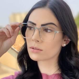 safine com br oculos de grau quadrado verde mage 4