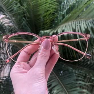 safine com br oculos de grau redondo rosa isa 3