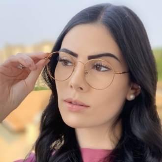 safine com br oculos de grau redondo titanio cobre 2