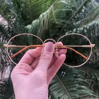 safine com br oculos de grau redondo titanio dourado 3