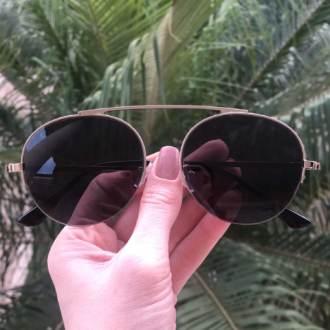 safine com br oculos de sol aviador preto com prata milena