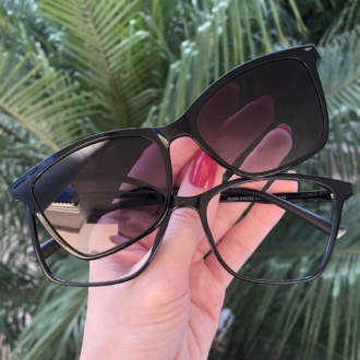 safine com br oculos de grau 3 em 1 gatinho preto vivi anti blue 3