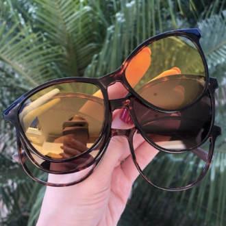 safine com br oculos de grau 3 em 1 gatinho tartaruga