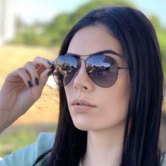 safine com br oculos de sol aviador preto degrade isa 2
