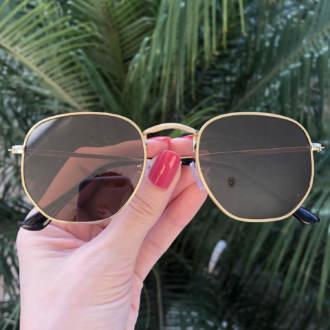 safine com br oculos de sol hexagonal marrom elisa new 3