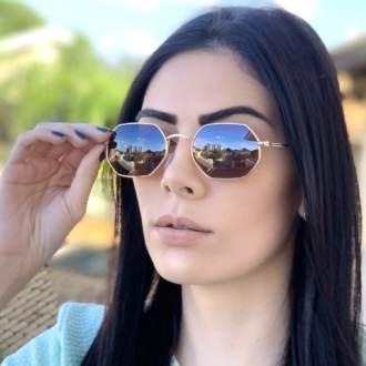 safine com br oculos de sol hexagonal marrom luci 1