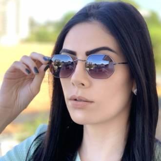 safine com br oculos de sol hexagonal preto degra luci 1