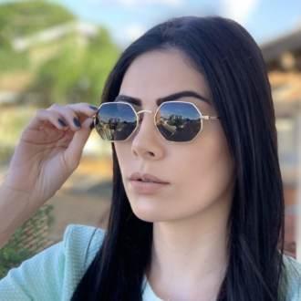 safine com br oculos de sol hexagonal verde luci 1