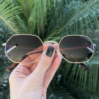 safine com br oculos de sol hexagonal verde luci copia