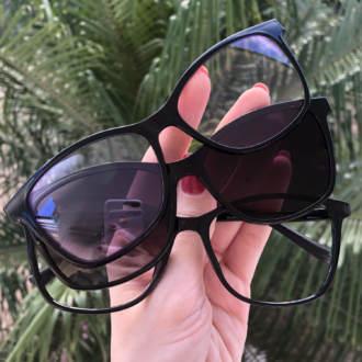 safine com br oculos de grau 3 em 1 retangular preto anti blue