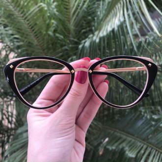 safine com br oculos de grau gatinho preto com nude bia