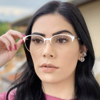 safine com br oculos de grau redondo branco lizzy