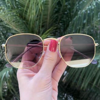 safine com br oculos de sol hexagonal marrom degrade elisa new 3