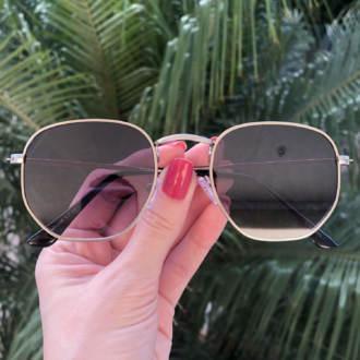 safine com br oculos de sol hexagonal prata elisa new 3