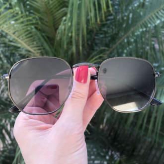 safine com br oculos de sol hexagonal preto degrade elisa new