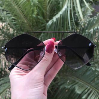 safine com br oculos de sol hexagonal preto tati