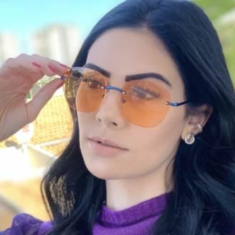 safine com br oculos de sol redondo laranja summer 3
