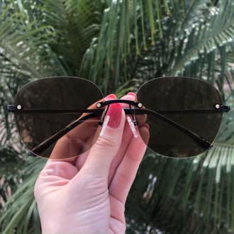 safine com br oculos de sol redondo marrom summer