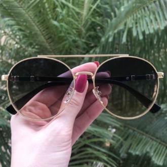 safine com br oculos de sol aviador dourado com colorido lana 3
