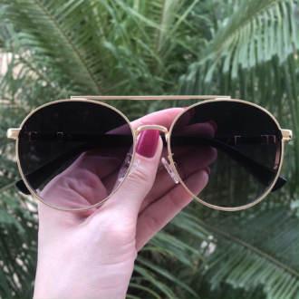 safine com br oculos de sol aviador dourado lana