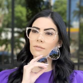 safine com br oculos 2 em 1 gatinho transparente lia 2