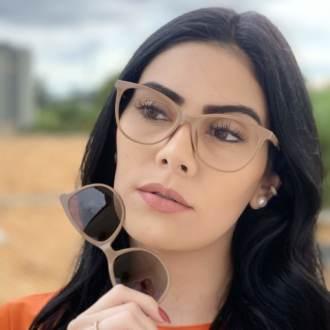 safine com br oculos de grau 3 em 1 gatinho new nude brinde 1