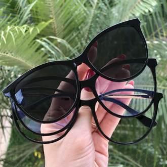 safine com br oculos 3 em 1 gatinho preto livia