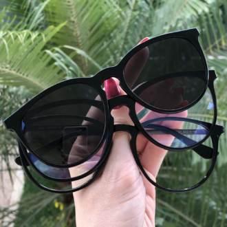 safine com br oculos 3 em 1 redondo elis preto