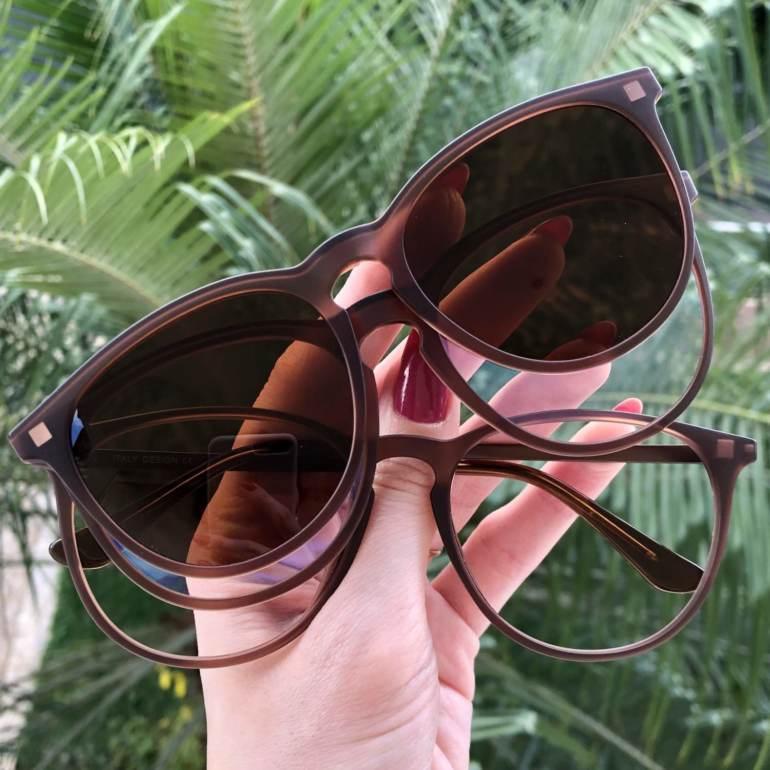 safine com br oculos 3 em 1 redondo marrom elis
