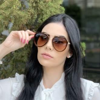 safine com br oculos de sol aviador marrom nicole 2