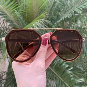 safine com br oculos de sol aviador marrom nicole