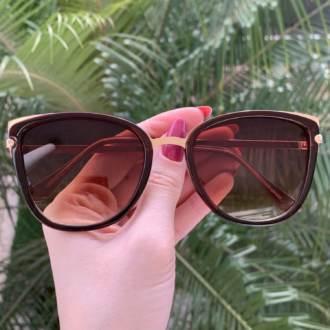 safine com br oculos de sol gatinho marrom aline