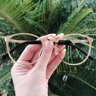safine com br oculos de grau em metal redondo dourado julia 4
