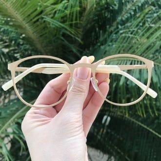 safine com br oculos de grau em metal redondo nude julia 3