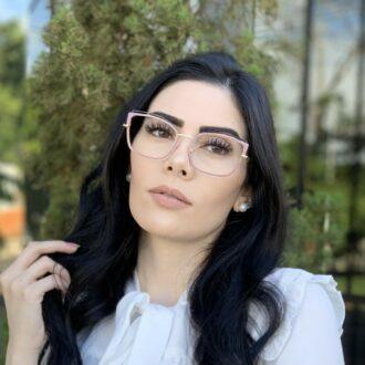 safine com br oculos de grau gatinho de metal lilas taisa 1