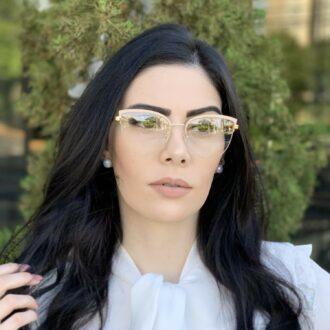 safine com br oculos de grau gatinho de metal nude agnes 4