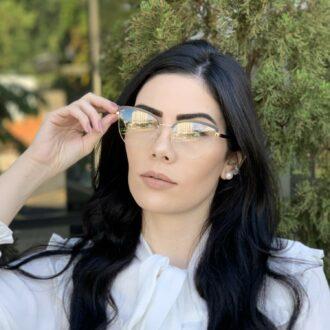 safine com br oculos de grau gatinho de metal preto agnes 9