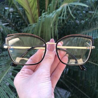 safine com br oculos de grau gatinho de metal preto taisa 3