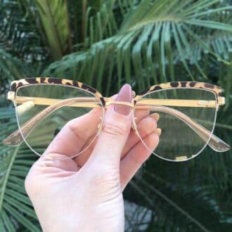 safine com br oculos de grau gatinho de metal tartaruga agnes 5