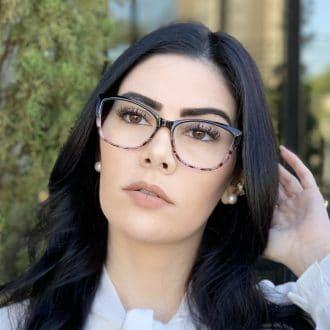 safine com br oculos de grau gatinho preto com rosa dani 4
