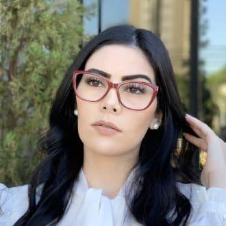 safine com br oculos de grau gatinho vinho dani 4