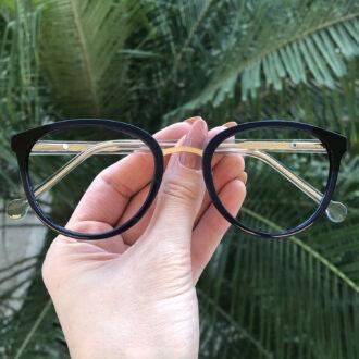 safine com br oculos de grau redondo azul lina