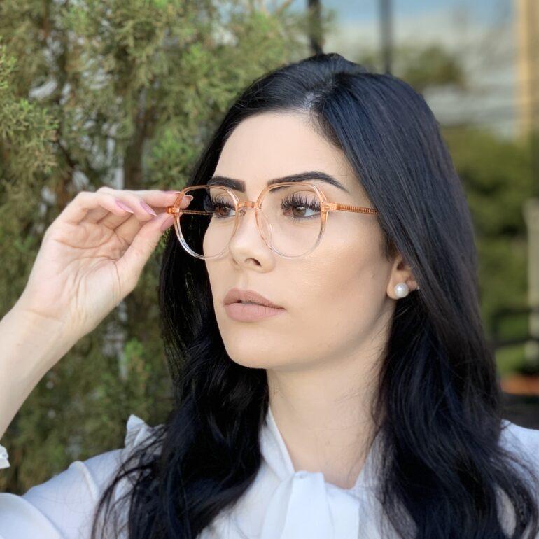 safine com br oculos de grau redondo laranja mage 2 0 5