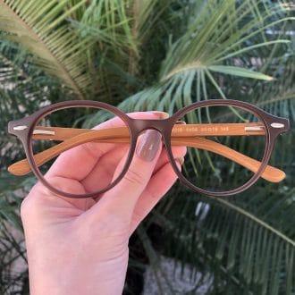 safine com br oculos de grau redondo marrom grazi