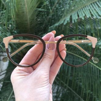 safine com br oculos de grau redondo marrom lina