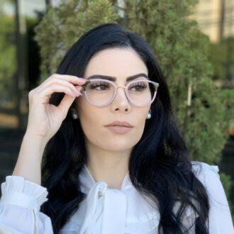 safine com br oculos de grau redondo nude lina 2