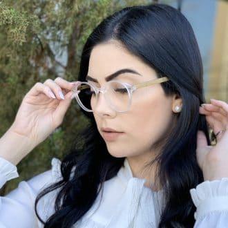safine com br oculos de grau redondo transparente grazi