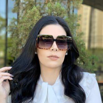 safine com br oculos de sol quadrado preto com tartaruga paty 2