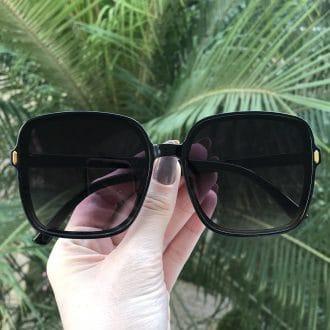 safine com br oculos de sol quadrado preto elen