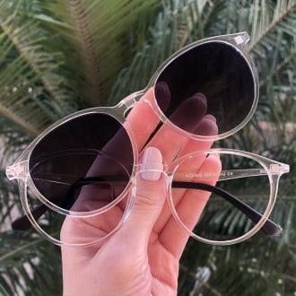 safine com br oculos 2 em 1 redondo transparente cloe